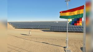 BOLIVIA INAUGURÓ SU MAYOR PLANTA DE ENERGÍA ALTERNATIVA