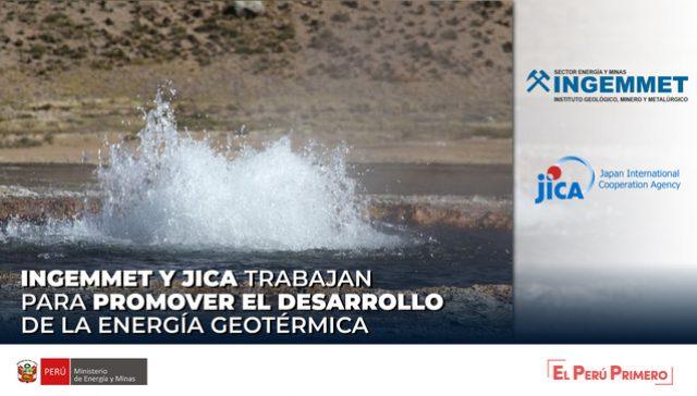INGEMMET Y JICA TRABAJAN PARA PROMOVER EL DESARROLLO DE LA ENERGÍA GEOTÉRMICA